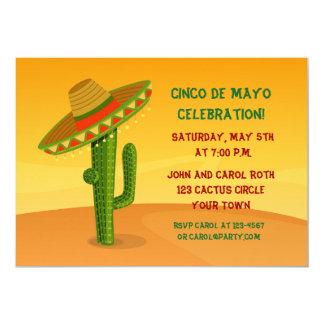 Cactus met Sombrero, Cinco DE Mayo Kaart