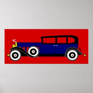 Cadillac van Al Capone 16 V - de jaren '20 van het Poster