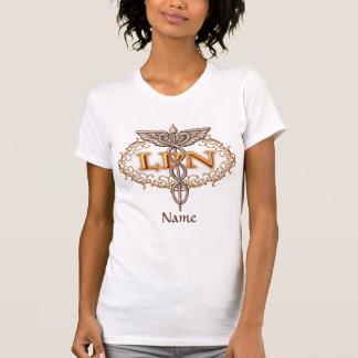 Caduceus LPN van het koper de basist-shirt van de Shirt