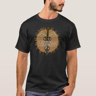 Caduceus van de arts de Hulp Donkere T-shirt van