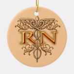 Caduceus van het Koper RN van de verpleegster Fanc Ornament