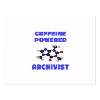 Cafeïne Aangedreven Archivaris Briefkaart