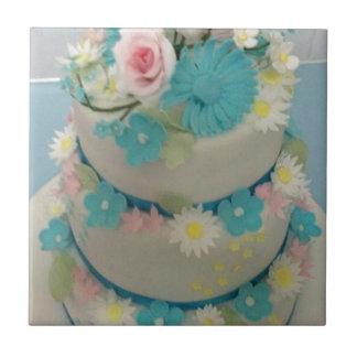 Cake 1 van de verjaardag tegeltje