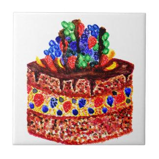 Cake 2 van de chocolade tegeltje