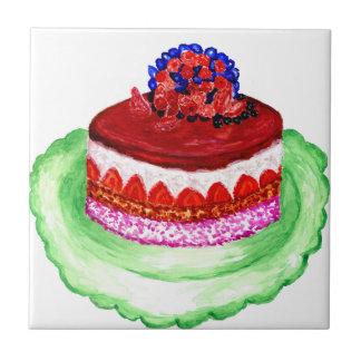 Cake 3 van de chocolade tegeltje