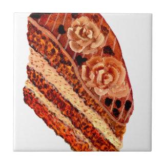 Cake 4 van de chocolade keramisch tegeltje