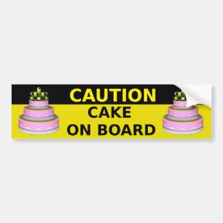 Cake aan boord van Sticker Bumpersticker