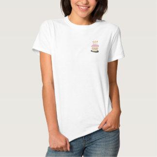 Cake Geborduurd Overhemd Geborduurd Dames Poloshirt