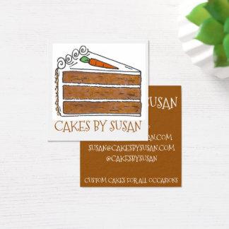 Cakes door het Gebakje van de Bakkerij van de Plak Vierkante Visitekaartjes