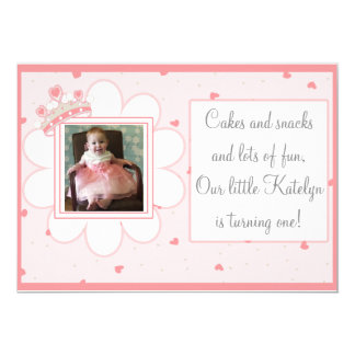 Cakes & Snacks en Veel Pret, Eerste Verjaardag 12,7x17,8 Uitnodiging Kaart