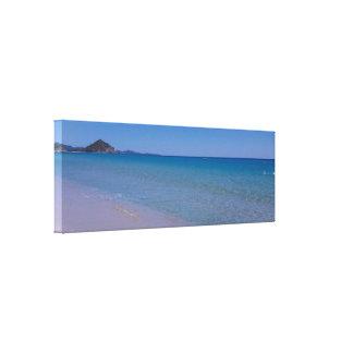 Cala sinziasstrand Sardinige Canvas Afdruk