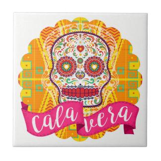 Calavera. Dag van de Dode Mexicaanse Schedel van Keramisch Tegeltje