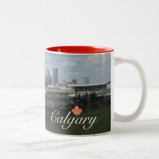 Calgary Alberta Tweekleurige Koffiemok