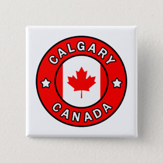 Calgary Canada Vierkante Button 5,1 Cm