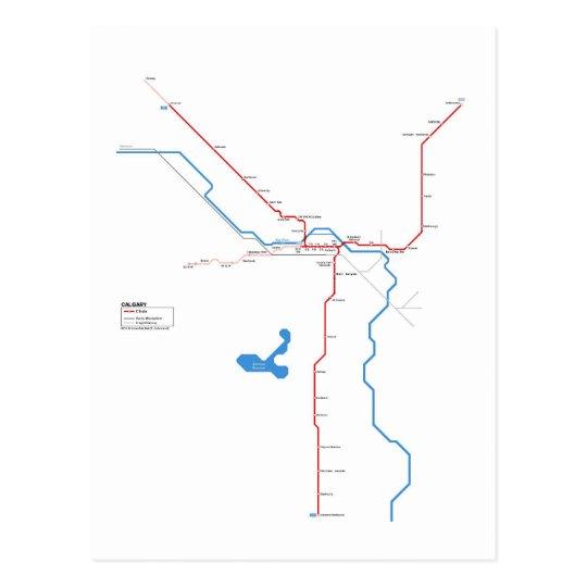 Calgary subway briefkaart