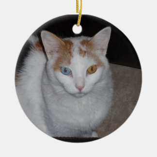 calico susie rond keramisch ornament