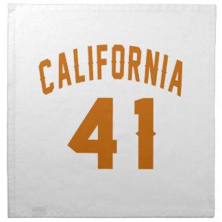 Californië 41 Design van de Verjaardag Servet