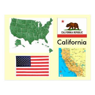 Californië, de V.S. Briefkaart