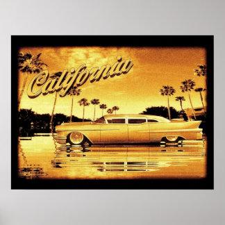 Californië gouden limoposter poster