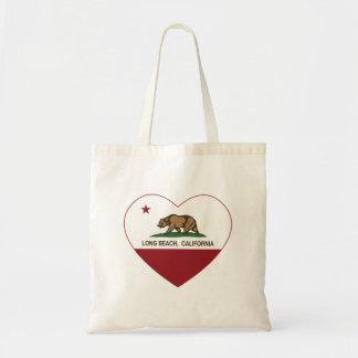 Californië hart van het vlag het lange strand draagtas