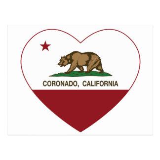 Californië het hart van vlagcoronado briefkaart
