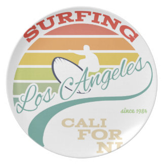 Californië surf illustratie, t-shirtgrafiek melamine+bord