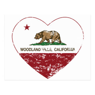 Californië verontruste hart van vlag het briefkaart