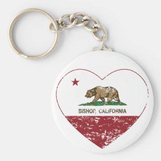 Californië verontruste het hart van de vlagbischop sleutelhanger