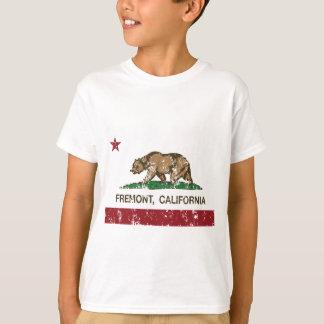 Californië verontruste vlag fremont t shirt