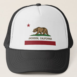 Californië vlag Jackson Trucker Pet