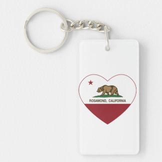 Californië vlag rosamond hart sleutelhanger