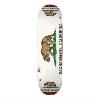 Californië vlag verontrust Sacramento 19,7 Cm Skateboard Deck