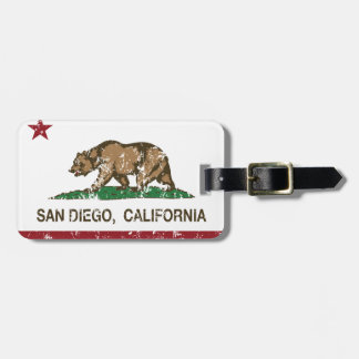 Californië vlag verontrust San Diego Kofferlabel