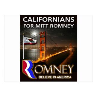 Californiërs voor Mitt Romney 2012 Briefkaart