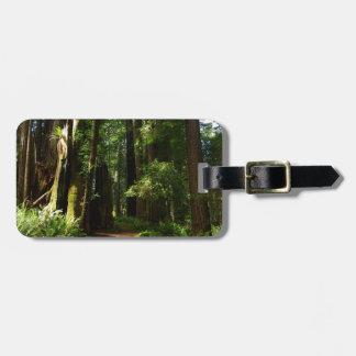Californische sequoia's en Varens bij het Bagagelabel