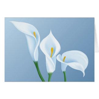 Calla bloemen kaart