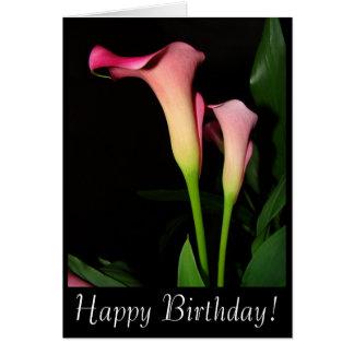 Calla de Kaart van de Verjaardag van Lelies