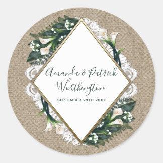 Calla de Stickers van de Gunst van het Huwelijk