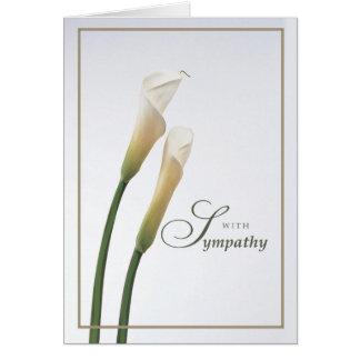 Calla de Sympathie van de Lelie Briefkaarten 0