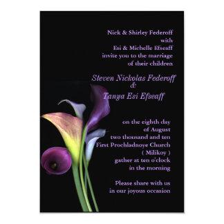 Calla de Uitnodiging van het Huwelijk van Lelies