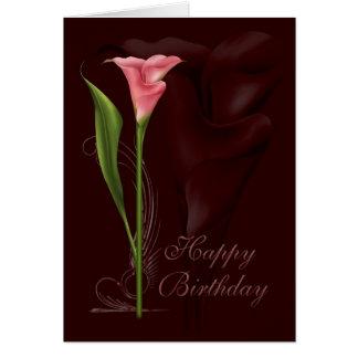Calla de Verjaardag van de Lelie Wenskaart