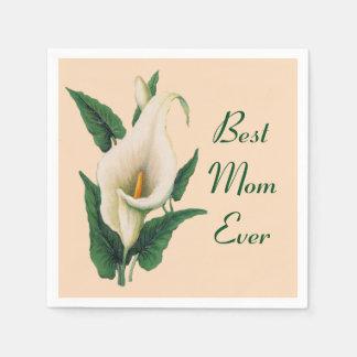 Calla het Beste Mamma van Lelies ooit Papieren Servet