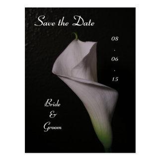 Calla het Huwelijk van de Lelie bewaart de Datum Briefkaart