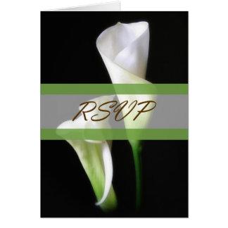 Calla Lelie 2 Huwelijk RSVP Briefkaarten 0