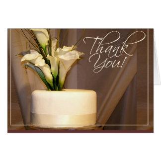 Calla Lelie & de Cake van het Huwelijk - bedankt! Wenskaart