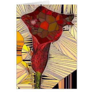 Calla van het gebrandschilderd glas het Wenskaart
