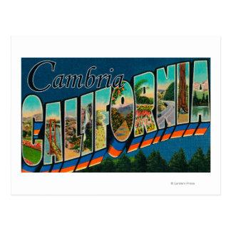Cambria, Californië - de Grote Scènes van de Brief Briefkaart