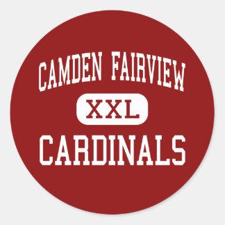 Camden Fairview - Hoge Kardinalen - - Camden Ronde Stickers