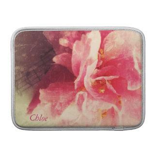 camelia bloem met het sleeve van de Lucht van muzi MacBook Beschermhoezen