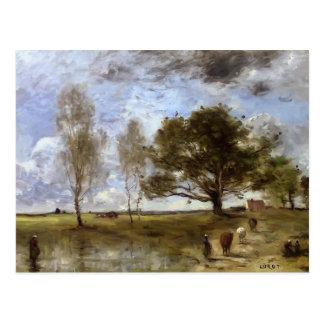 Camille Corot- de Weg van de Koe Briefkaart